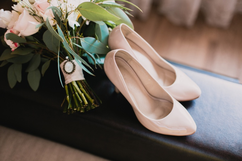 White Leather Pumps Heel