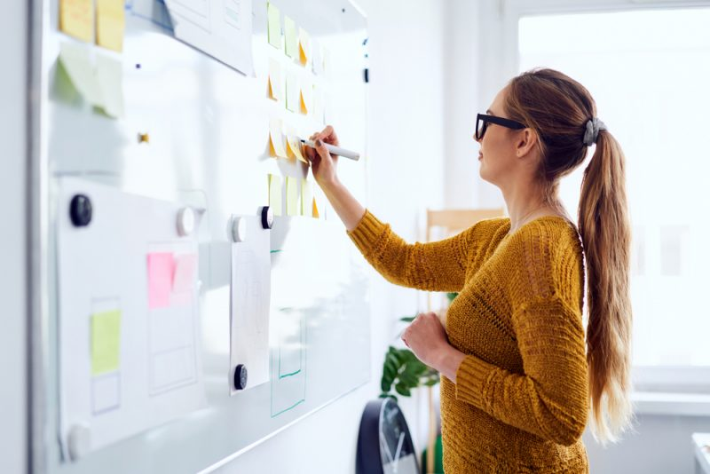 Woman Planning Startup Business