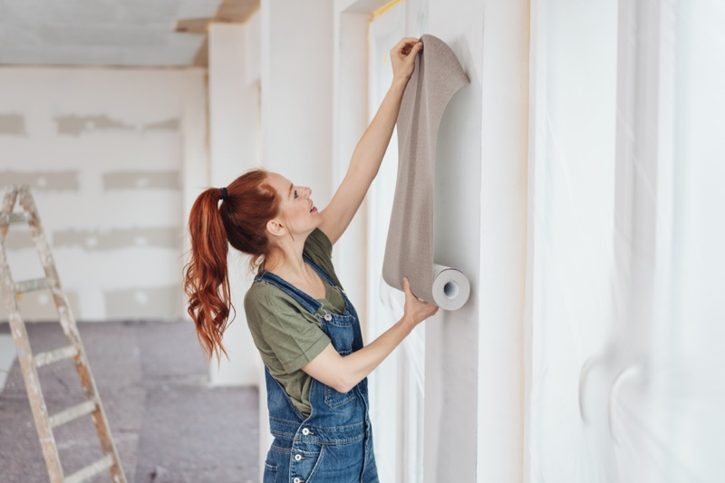 Woman Wallpaper Wall Overalls Home