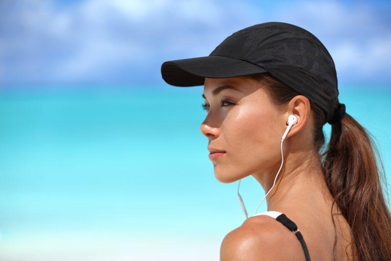 Woman Wearing Runners Cap