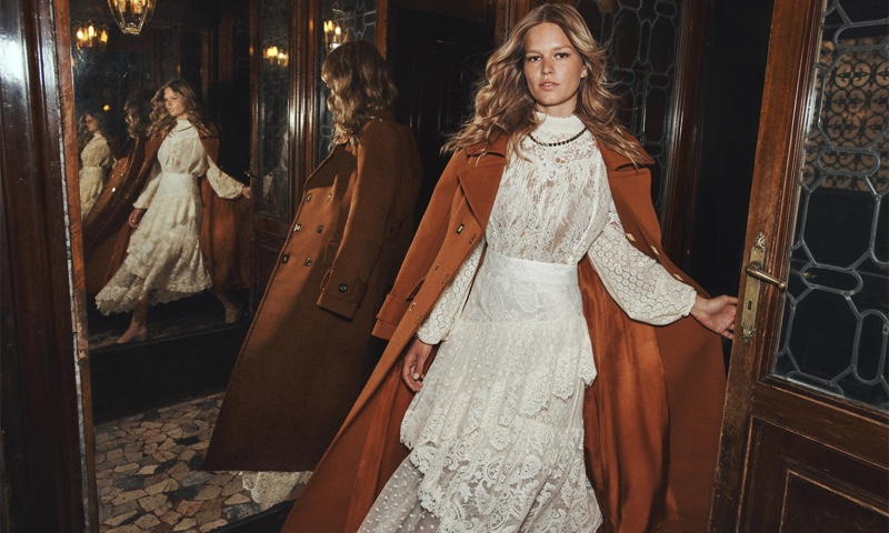 Zimmermann Concert Textured Lace Blouse, Concert Textured Lace Skirt & Tempo Longline Coat.