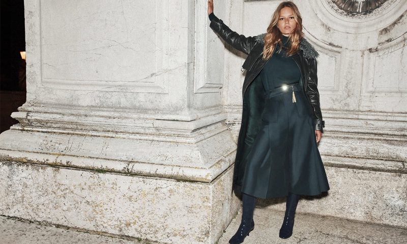 Striking a pose, Anna Ewers fronts Zimmermann fall 2021 campaign.