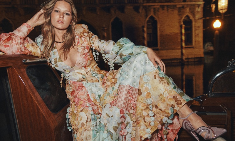 Zimmermann Tempo Patch Gown and Wave Pump.