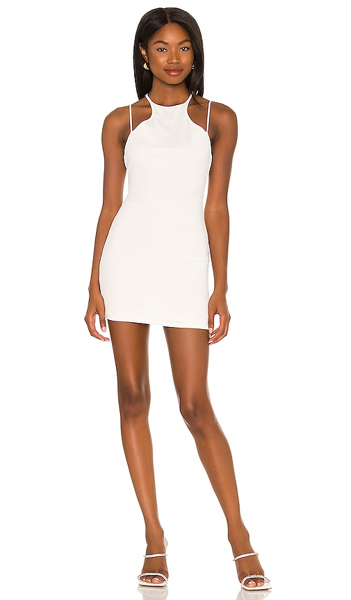 h:ours Paolo Mini Dress in White. - size S (also in L, M, XL, XS, XXS)