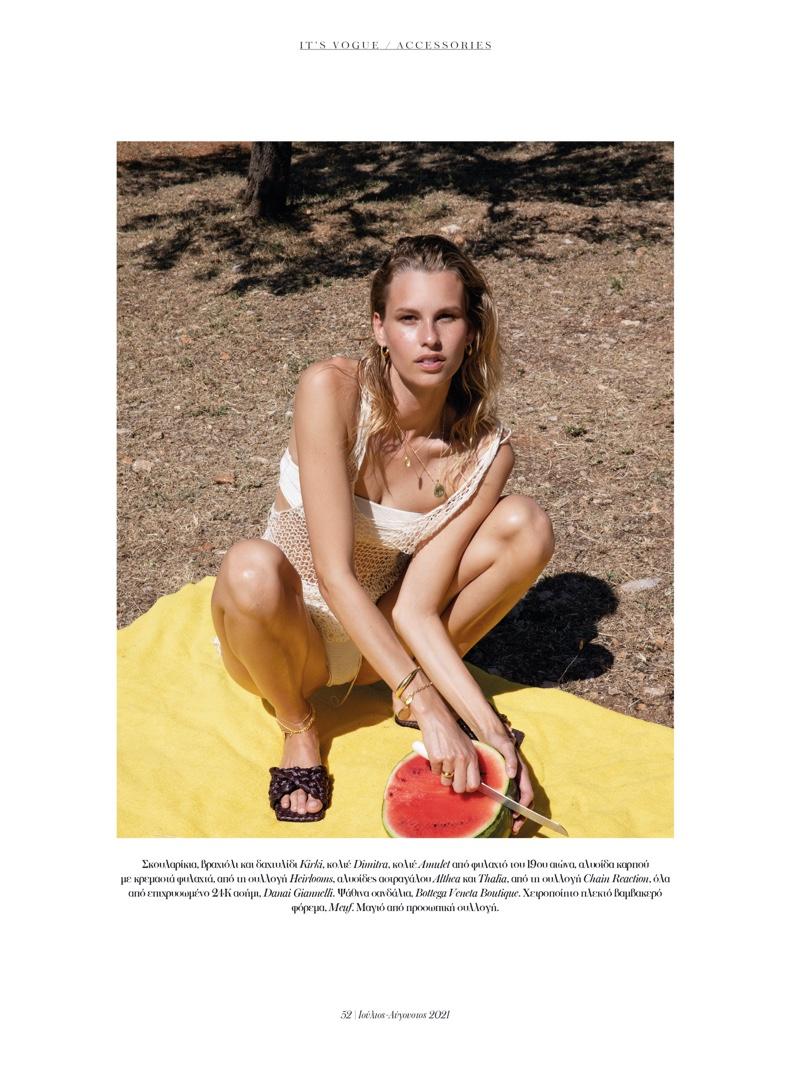 Mariina Keskitalo Embraces Warm-Weather Style for Vogue Greece