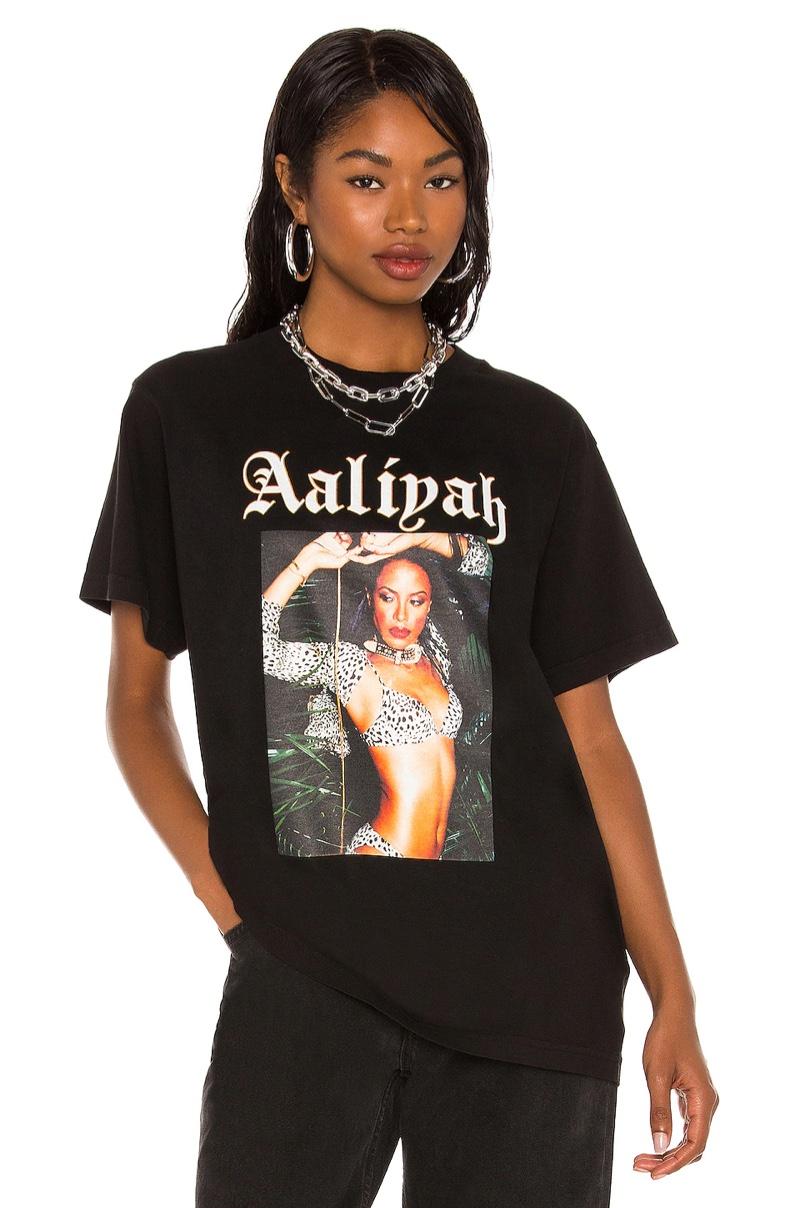 Aaliyah x Revolve Aaliyah Tee in Jungle $128