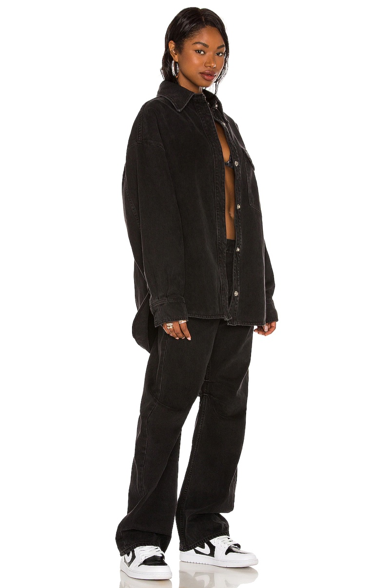 Aaliyah x Revolve Back & Forth Denim Jacket $258