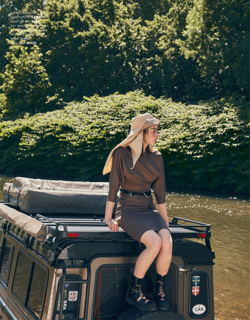 Alice Vink Poses in Chic Camping Styles for ELLE Thailand