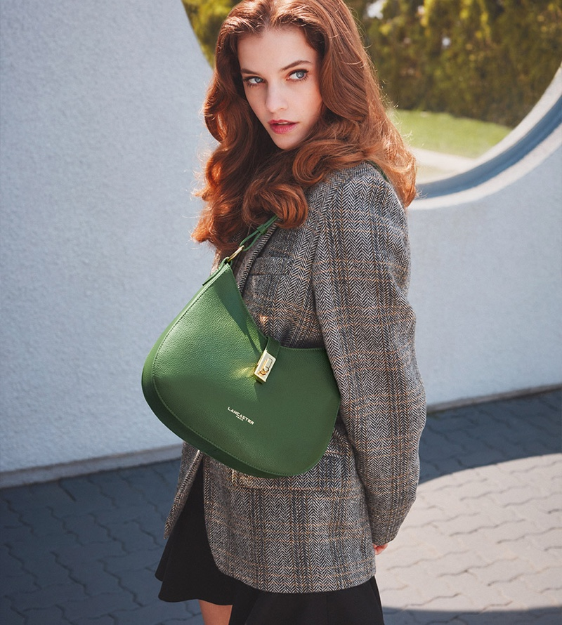 Model Barbara Palvin appears in Lancaster fall-winter 2021 campaign.