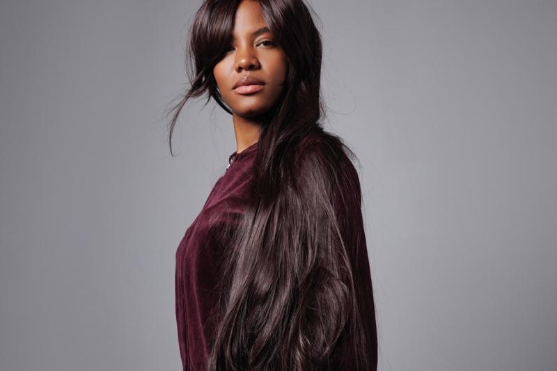 Black Woman Long Hair Wig