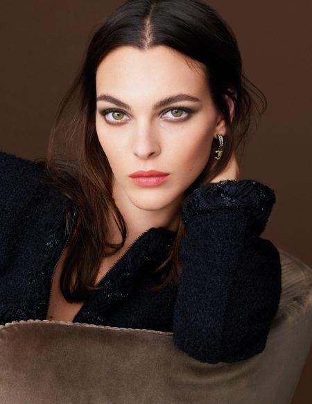 Vittoria Ceretti stars in Chanel Makeup fall 2021 campaign.