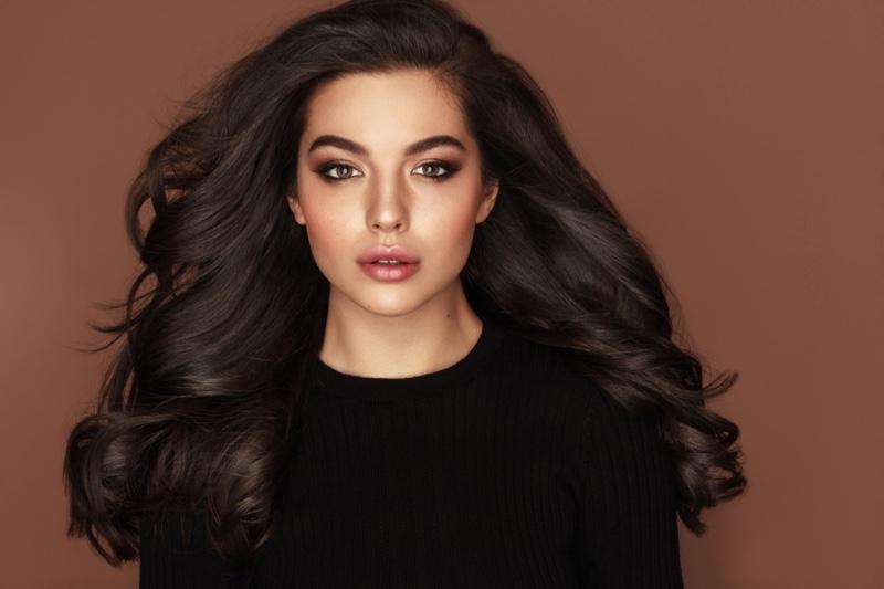 Dark Hair Model Long Hair Beautiful