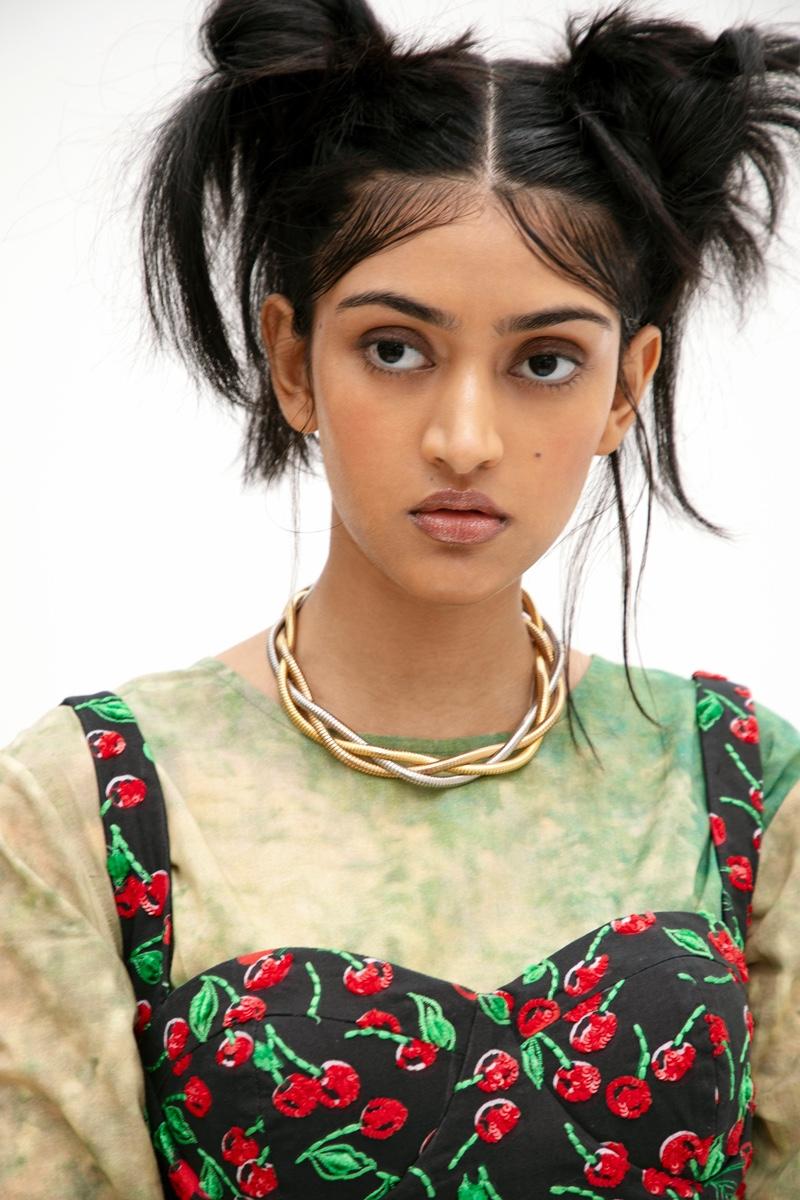 Print Dress Yavi, Embellished Dress Aniket Satam & Necklace Kaoaph. Photo: Kay Sukumar