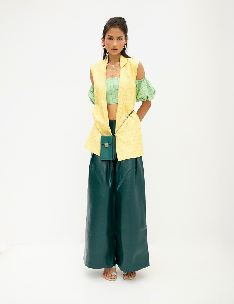 Bustier & Jacket Aniket Satam, Pants Do Nuts Honey, Jewelry Kaoaph,  Shoes Paio & Bag Images. Photo: Kay Sukumar