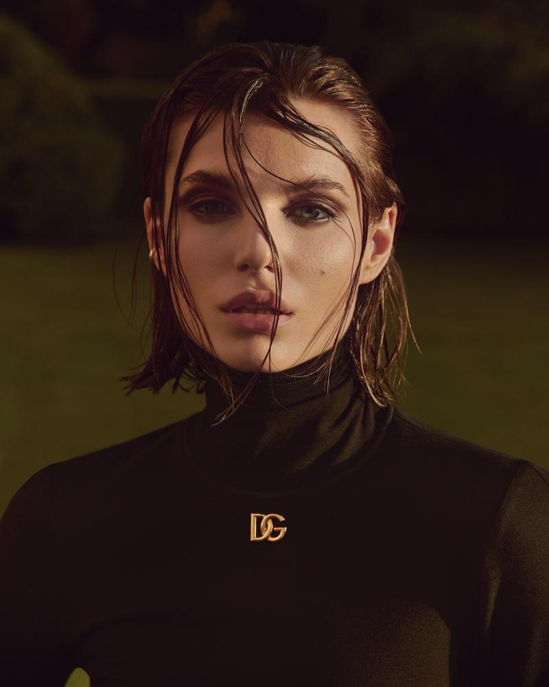Emilia Vucinic Models All Black Looks for ELLE Germany