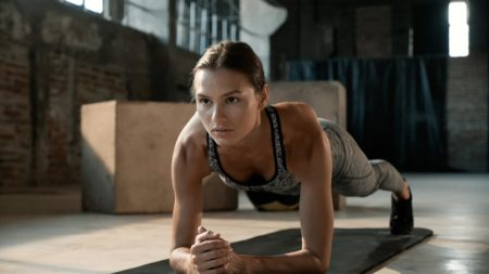 Exercise Woman Planking