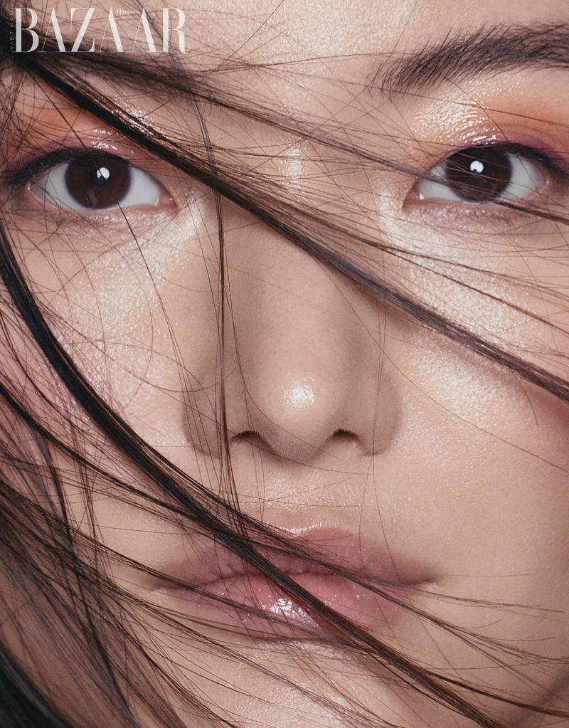 Feifei Zhang Models Vibrant Beauty for Harper's Bazaar Vietnam