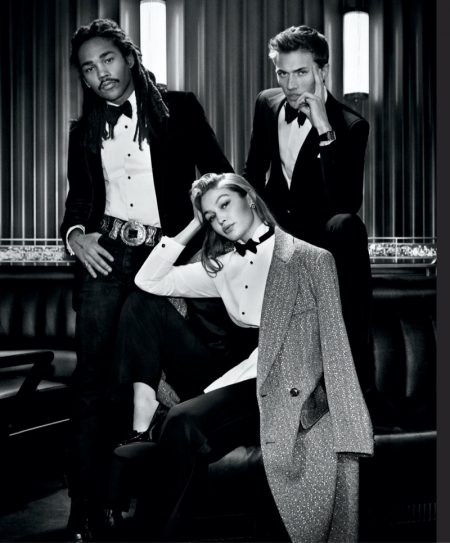 Lukas Sabbat, Gigi Hadid, and Lucky Blue Smith star in Ralph Lauren Ralph's Club eau de parfum campaign.