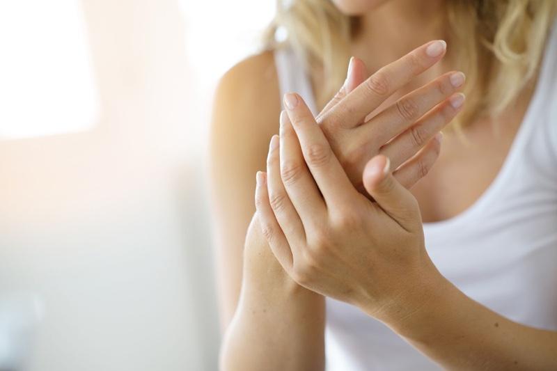 Hands Holding Woman Closeup