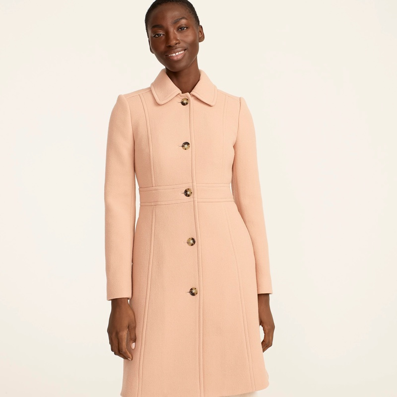 J. Crew Classic Lady Day Coat in Warm Taupe $398