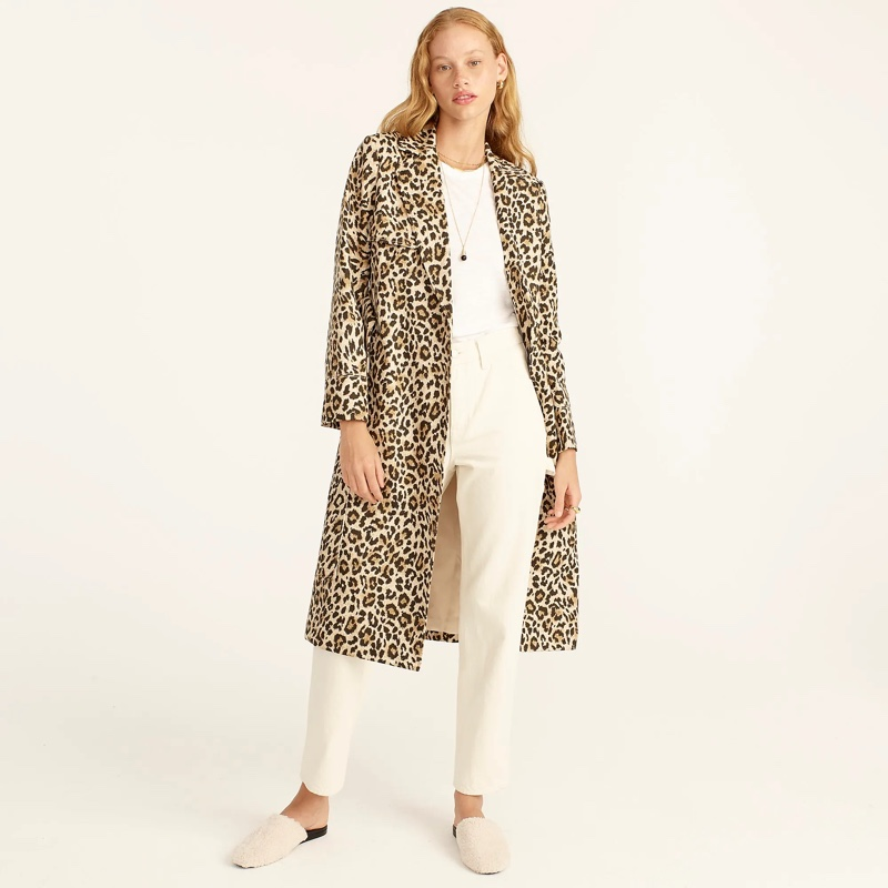 J. Crew Collection Tailored Trench Coat in Leopard $328
