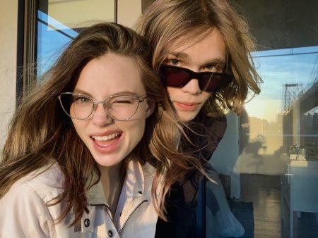 Actors Krisine Froseth and Charlie Plummer front rag & bone eyewear fall 2021 campaign.
