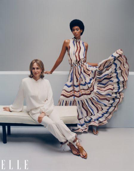 Manuela Sanchez poses with Silvia Tcherassi. Photo: Emmanuel Sanchez-Monsalve for ELLE US