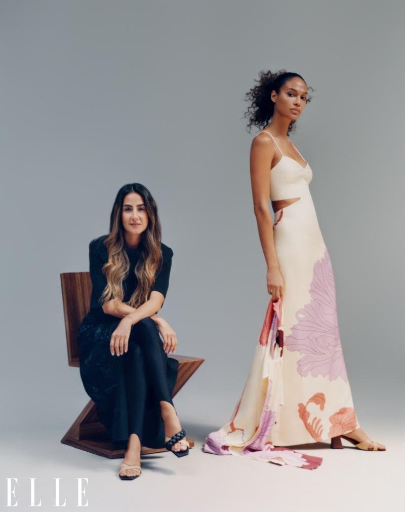 Joan Smalls poses with Johanna Ortiz. Photo: Emmanuel Sanchez-Monsalve for ELLE US