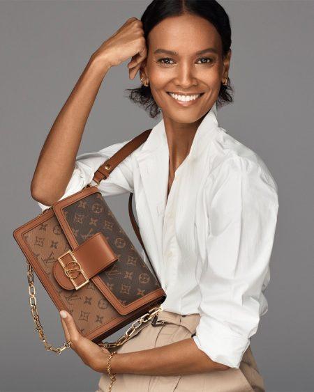 Liya Kebede stars in Louis Vuitton Dauphine bag 2021 campaign.