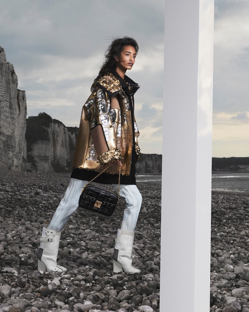 Mona Tougaard stars in Louis Vuitton fall-winter 2021 campaign.