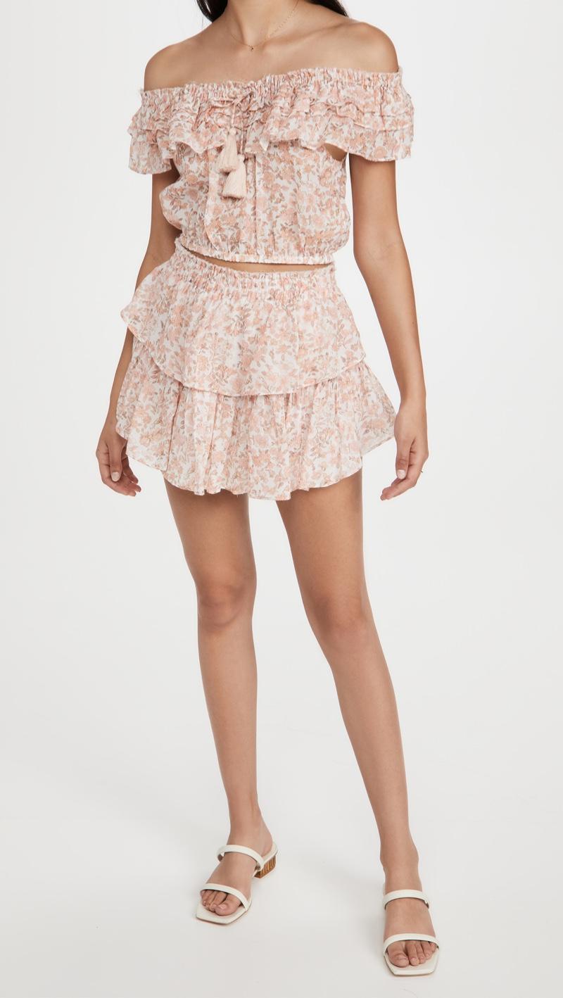 LoveShackFancy Dorin Crop Top $215 & Ruffle Miniskirt $245