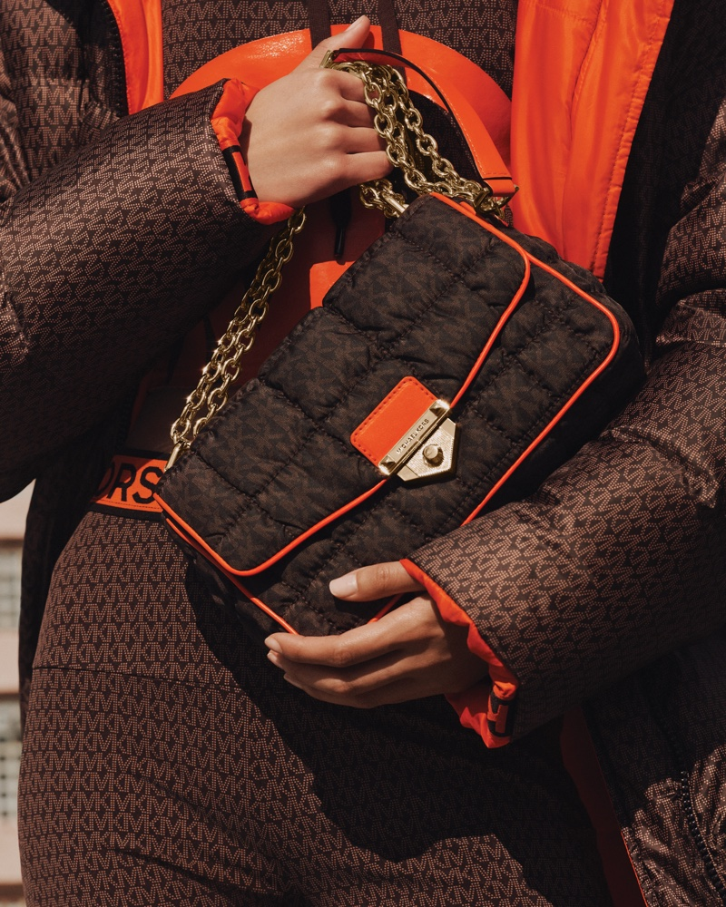 SoHo bag featured in MICHAEL Michael Kors fall-winter 2021 campaign.
