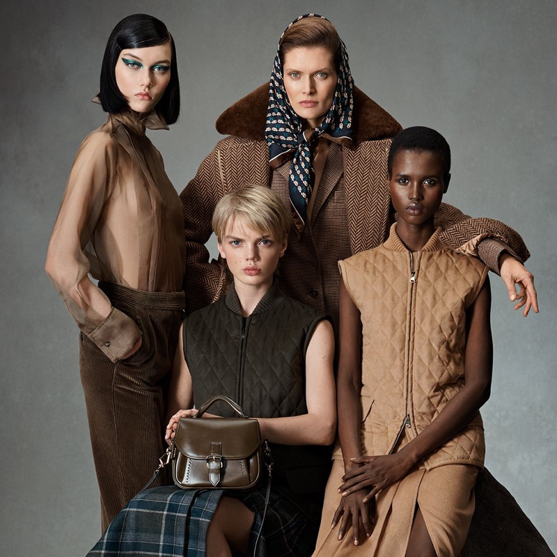 Steinberg, Malgosia Bela, Jits Bootsma, and Amar Akway star in Max Mara fall-winter 2021 campaign.