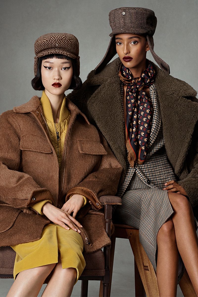 Chloe Oh and Mona Tougaard fronts Max Mara fall-winter 2021 campaign.