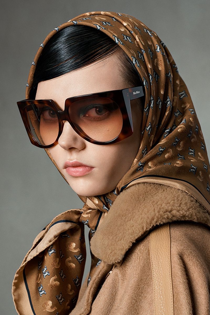 Max Mara focuses on eyewear for fall-winter 2021 campaign.