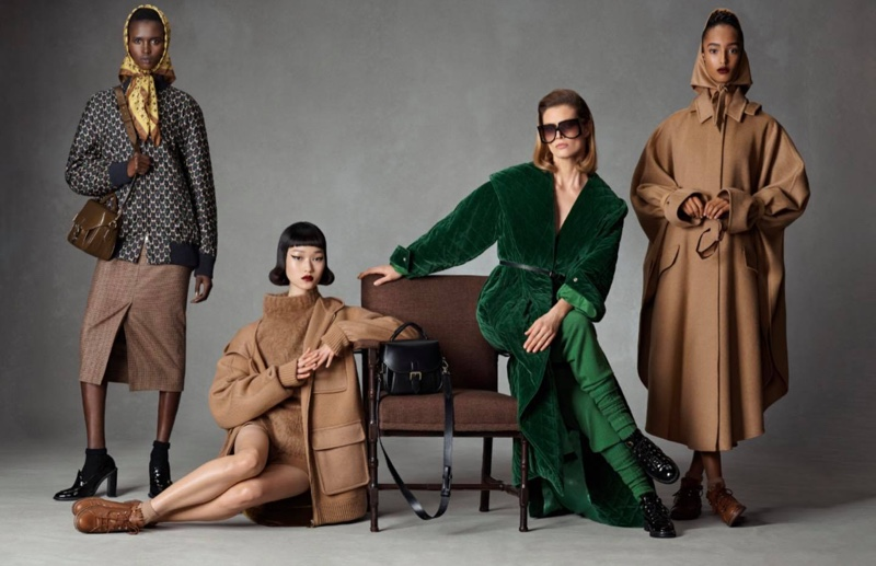 An image from Max Mara's fall 2021 advertising campaign.