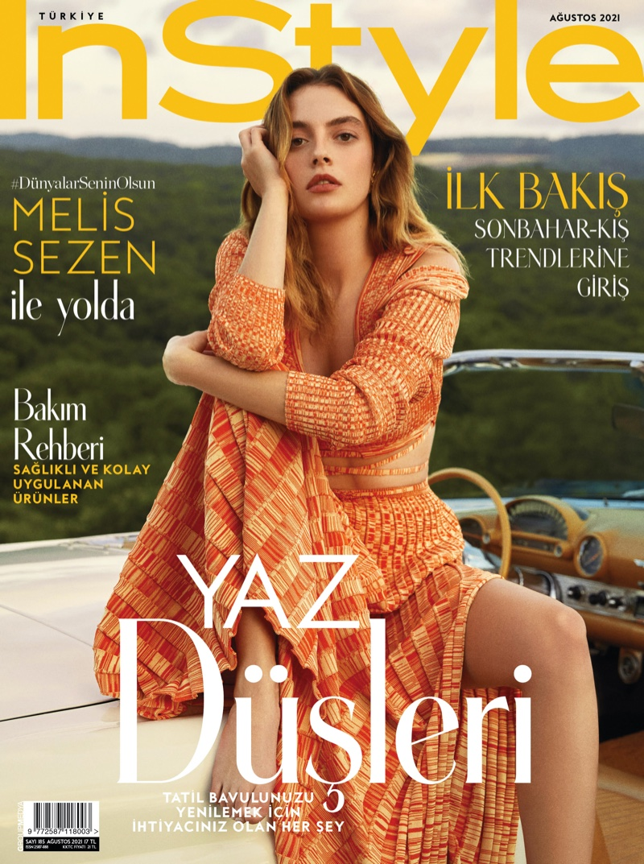 Melis Sezen on InStyle Turkey August 2021 Cover. Photo: Emre İbis