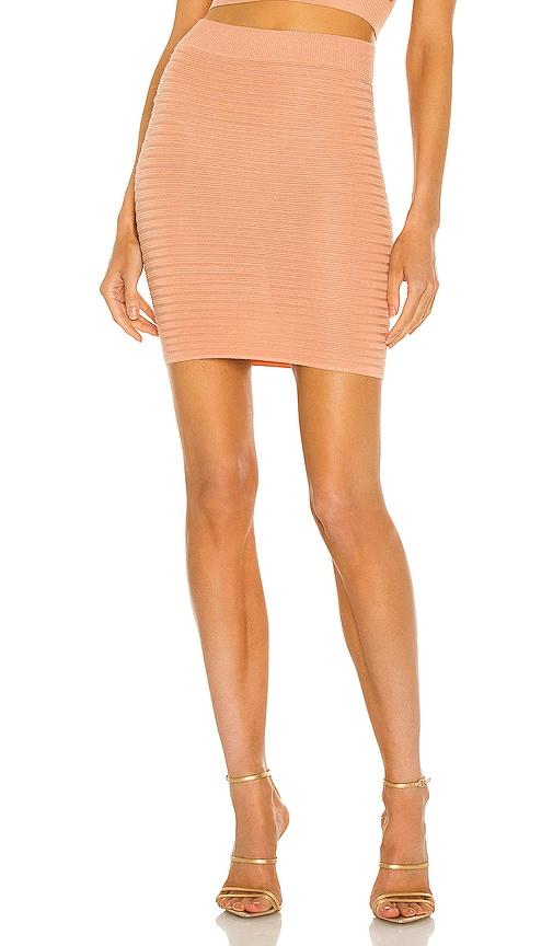 Michael Costello x REVOLVE Ambrose Mini Skirt in Blush. - size XXS (also in L, M, S, XL, XS)