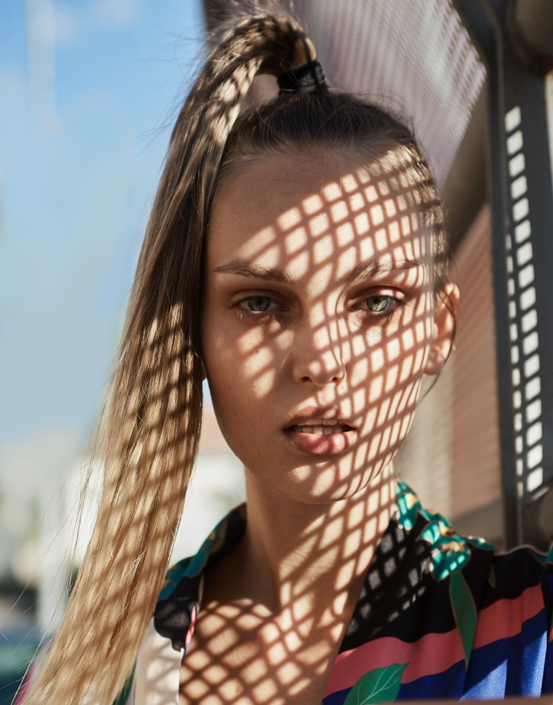 Mihaela Poses in Colorful Prints for L'Officiel Lithuania