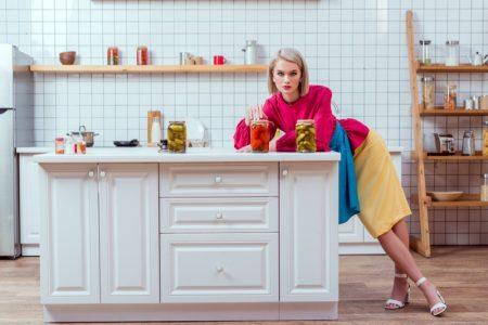 Model Kitchen Jarred Vegetables Fashionable Look