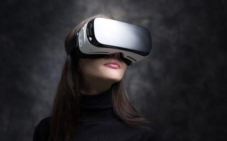 Model Wearing VR Headset