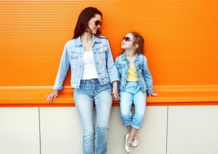 Mother Daughter Denim Outfits Style