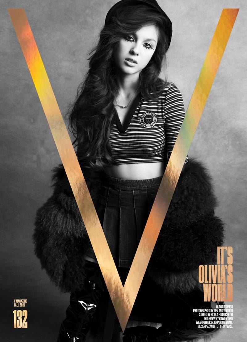 Singer Olivia Rodrigo on V Magazine #132 Cover. Image: Courtesy of V Magazine / Inez& Vinoodh