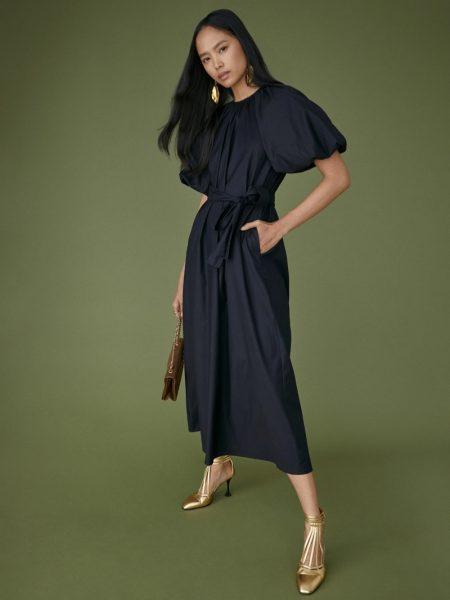 Reformation Lloyd Dress in Black $278