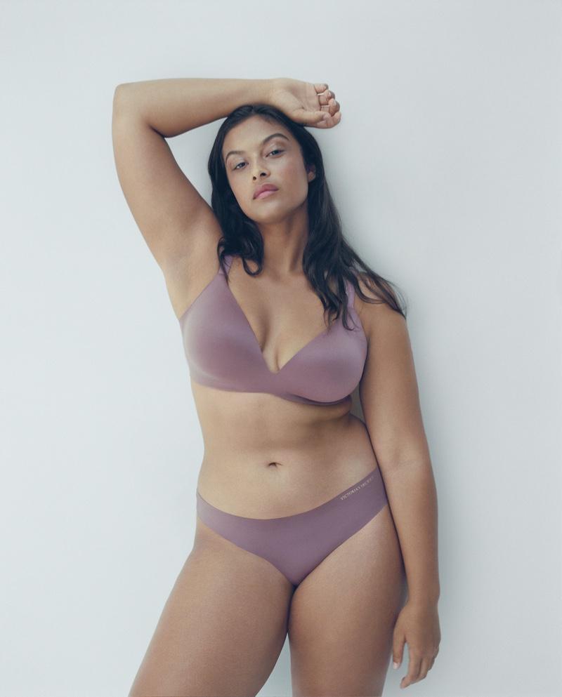 Model Devyn Garcia appears in Victoria's Secret VS Bare Infinity Flex campaign.