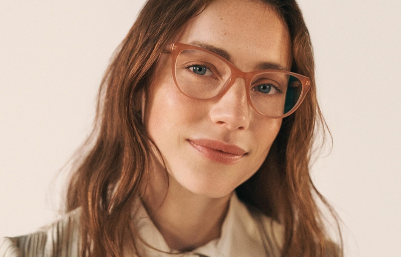 Warby Parker Shea Glasses in Rose Guava $95