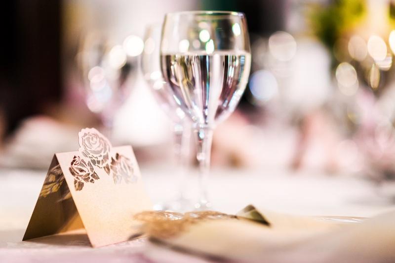 Wedding Table Glass Closeup