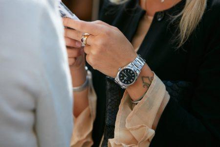 Woman Rolex Explorer Watch Street Style