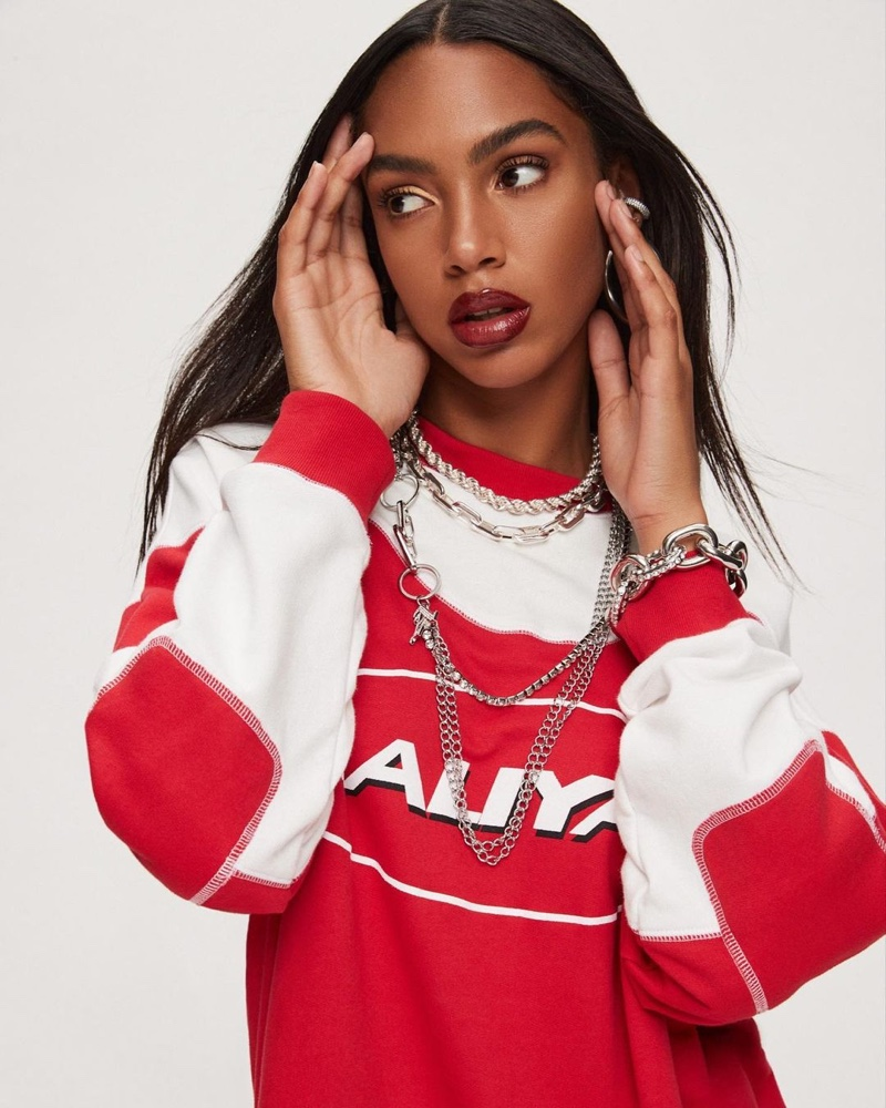 Aaliyah REVOLVE clothing collection