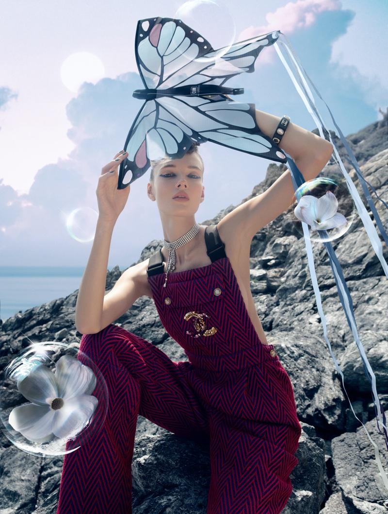 Alicja Tubilewicz Wears Fantastical Fashion in Marie Claire Hong Kong